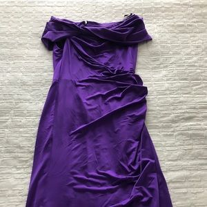 Tadashi Shojl Royal Purple cocktail dress